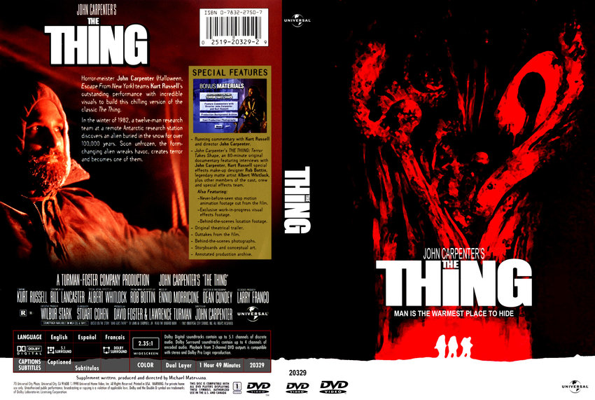 the thing - Movie DVD Custom Covers - 211thething cstm3 hires :: DVD ...: www.dvd-covers.org/art/DVD_Covers/Movie_DVD_Custom_Covers...
