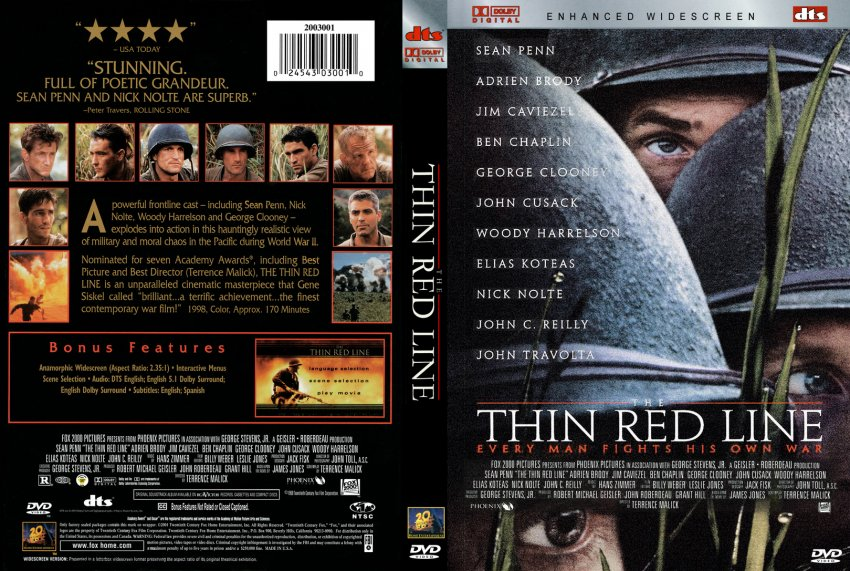 a historic movie the thin red line essay Why teletubbies are evil essays: terrence malick's the thin red line and hollywood's traditional depictions to lure the viewers in to watch the movie.