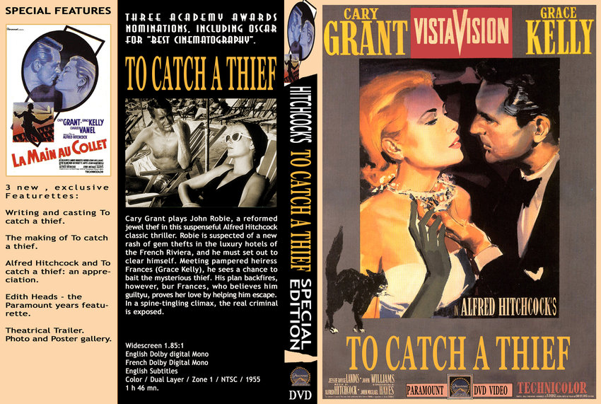 to catch a thief - Movie DVD Custom Covers ...