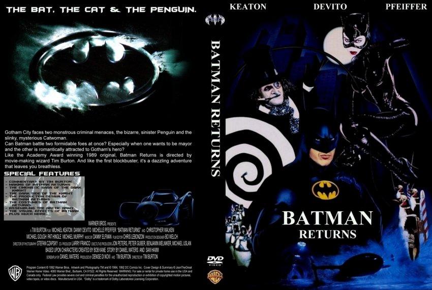 Batman Returns - Movie DVD Custom Covers - 21272 Batman ...