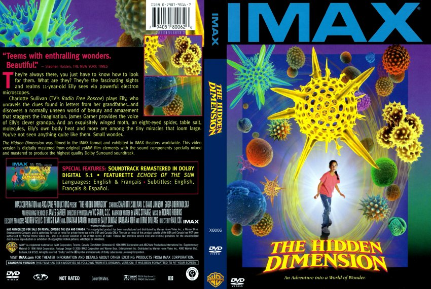 the hidden dimension The mystery of the unseen world comes to enormous and vibrant life via imax and 3-d technology the fantastic images are linked with the story of a girl's scientific journey into microbiology.