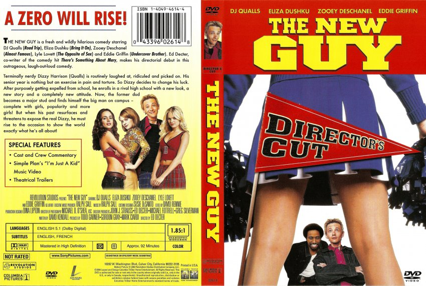 New Guy Movie Dvd Scanned Covers New Guy 001 Dvd Covers