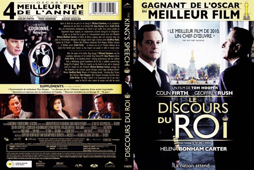 the king speech le discours du roi movie dvd scanned covers the king speech le discours. Black Bedroom Furniture Sets. Home Design Ideas