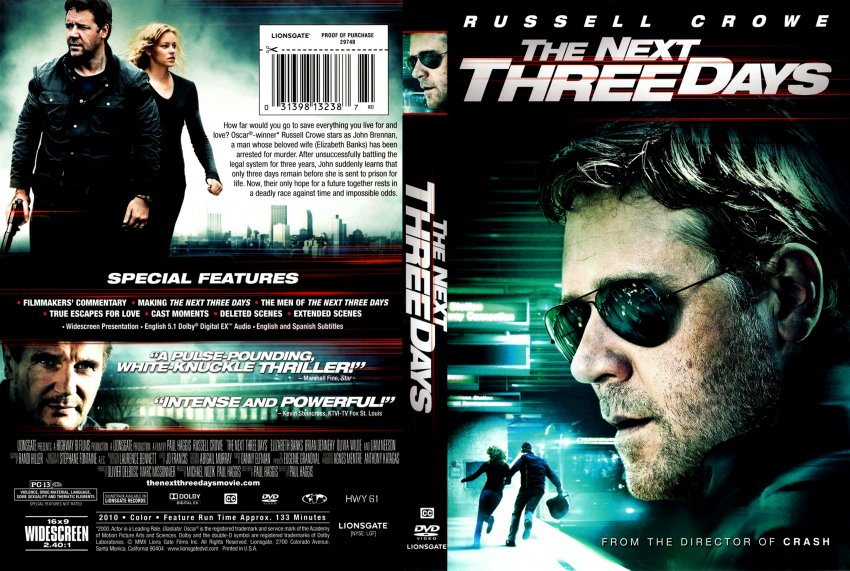 The Next Three Days - Movie DVD Scanned Covers - The Next Three Days2 ...