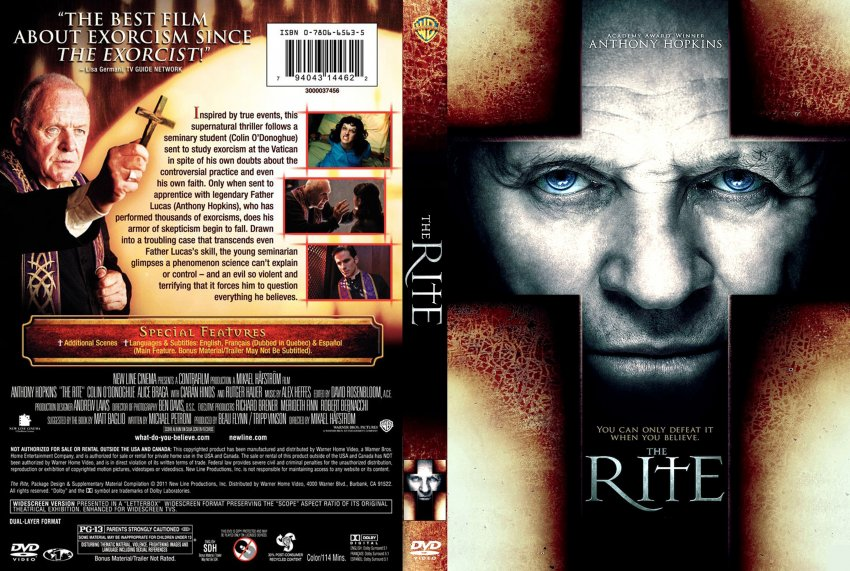 The rite movie dvd scanned covers the rite2 dvd covers