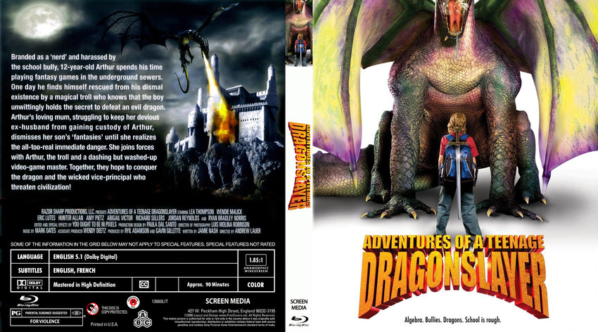 Adventures Of A Teenage Dragonslayer Movie Blu Ray