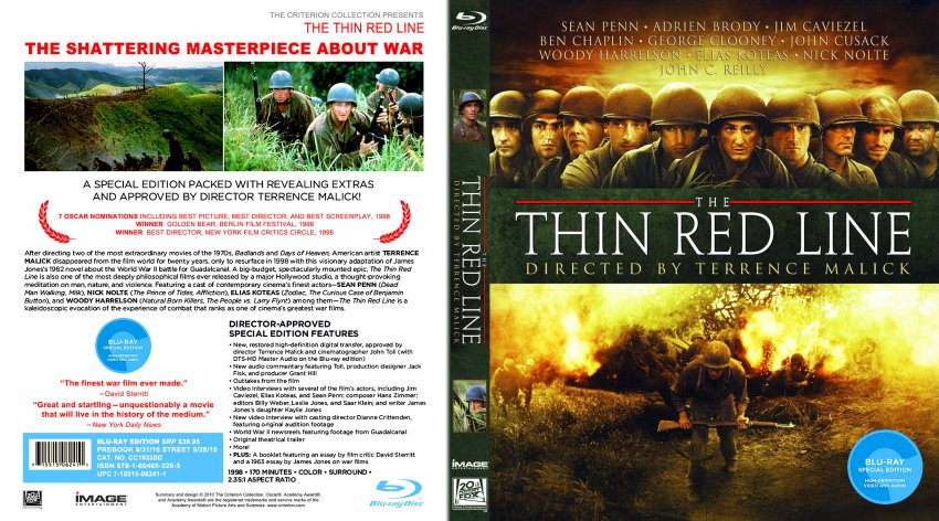 "the thin red line movie review ""t he thin red line,"" being released so close to ""saving private ryan"", is destined to be called ""that other war movie"" this is unfortunate for, ""the thin red line"" is not just another brutal war movie."