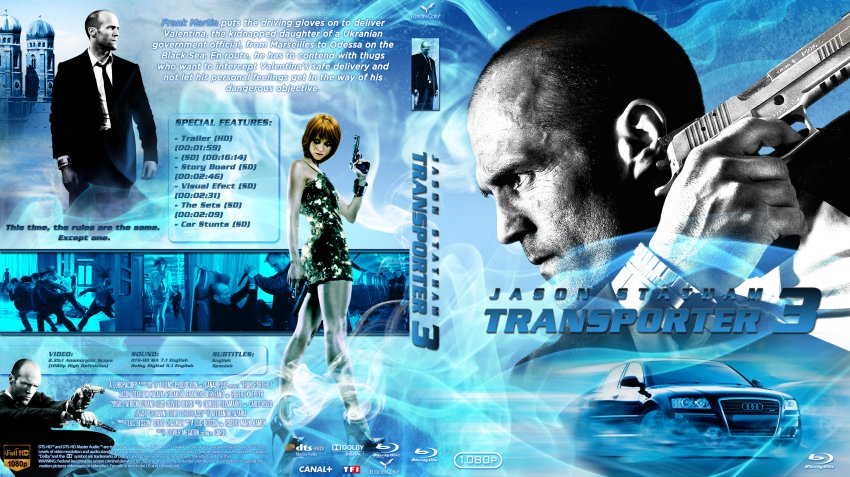 transporter 3 movie blu ray custom covers transporter 33 dvd covers. Black Bedroom Furniture Sets. Home Design Ideas