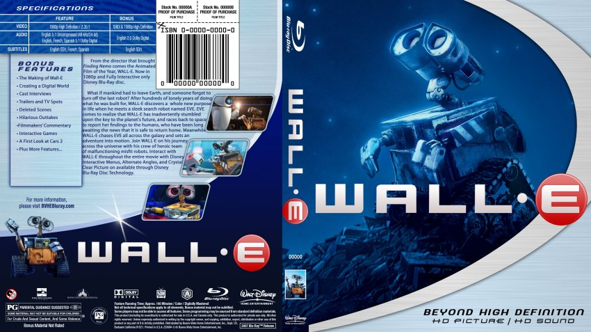wall183e movie bluray custom covers walle3 dvd covers