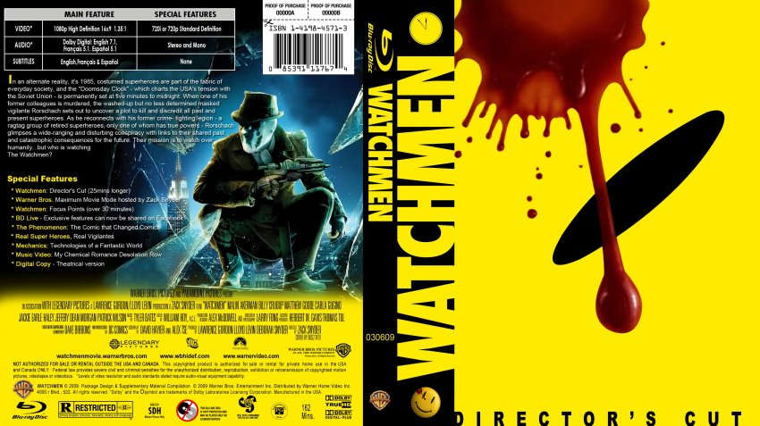 Watchmen - Movie Blu-Ray Custom Covers - Watchmen10 :: DVD ...