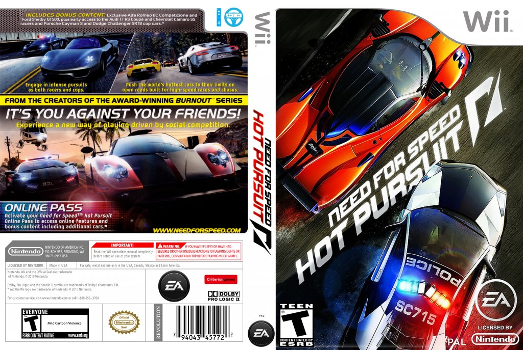 need for speed hot pursuit nintendo wii game covers need for speed hot pursuit dvd ntsc. Black Bedroom Furniture Sets. Home Design Ideas