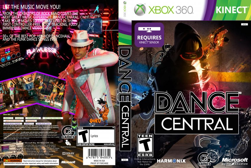 Dance central (2010) xbox 360 box cover art mobygames.