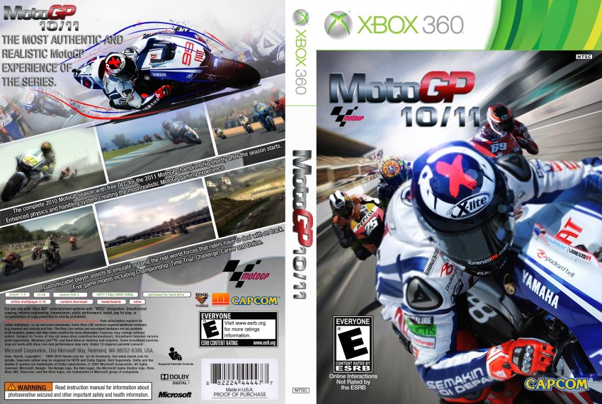 MotoGP 10/11 - XBOX 360 Game Covers - MotoGP 1011 DVD NTSC f :: DVD Covers