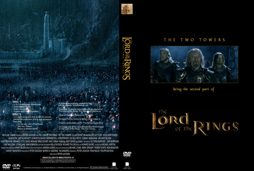 Lord of the Rings The Two Towers Custom - Movie DVD Custom ...
