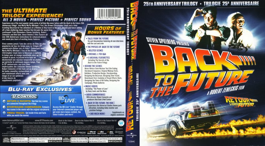Back to the future cover back to the future 25th