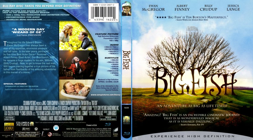 Big fish movie blu ray scanned covers big fish for Big fish movie online
