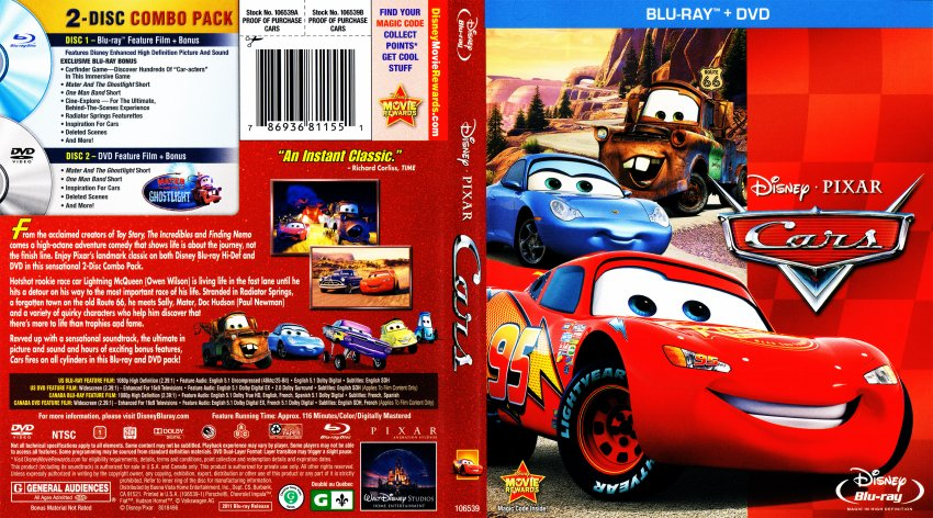 Cars Movie Blu Ray Scanned Covers Cars 2006 Bluray Dvd Covers