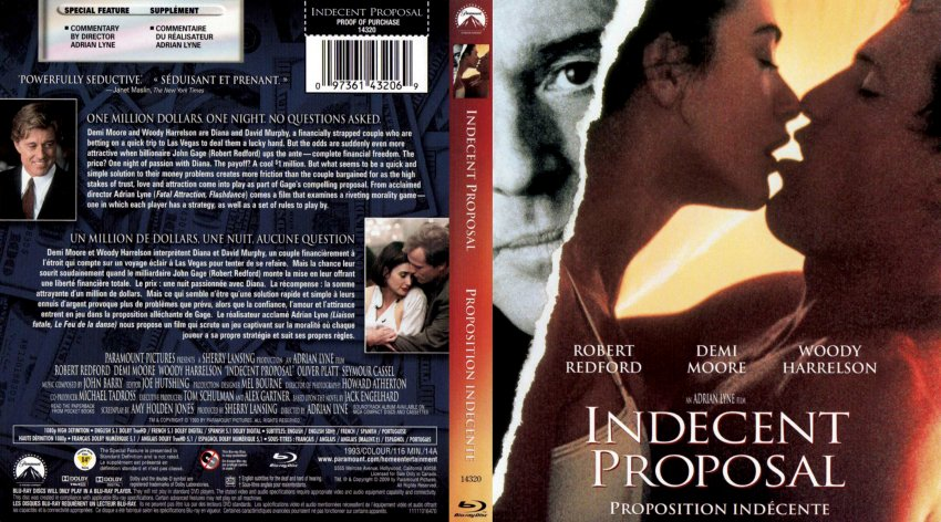 Indecent Proposal Movie Blu Ray Scanned Covers Indecent Proposal