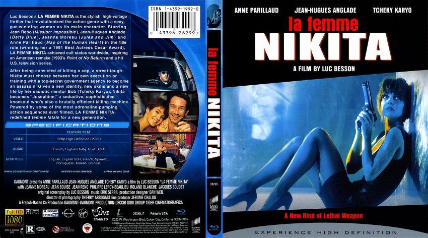 La Femme Nikita - Movie Blu-Ray Scanned Covers - La Femme