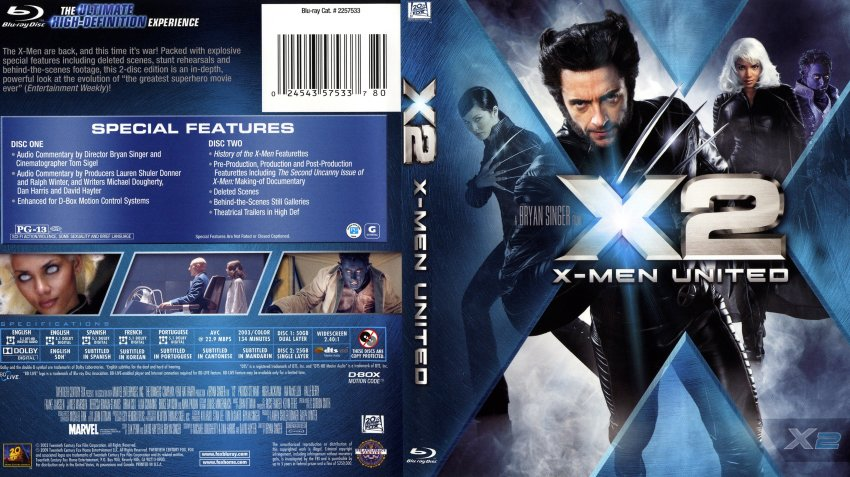 X Men Dvd Cover: Movie Blu-Ray Scanned Covers