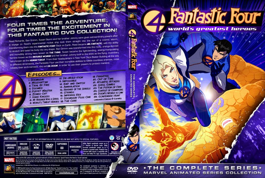 Marvel Animated Fantastic Four World's Greatest Heroes