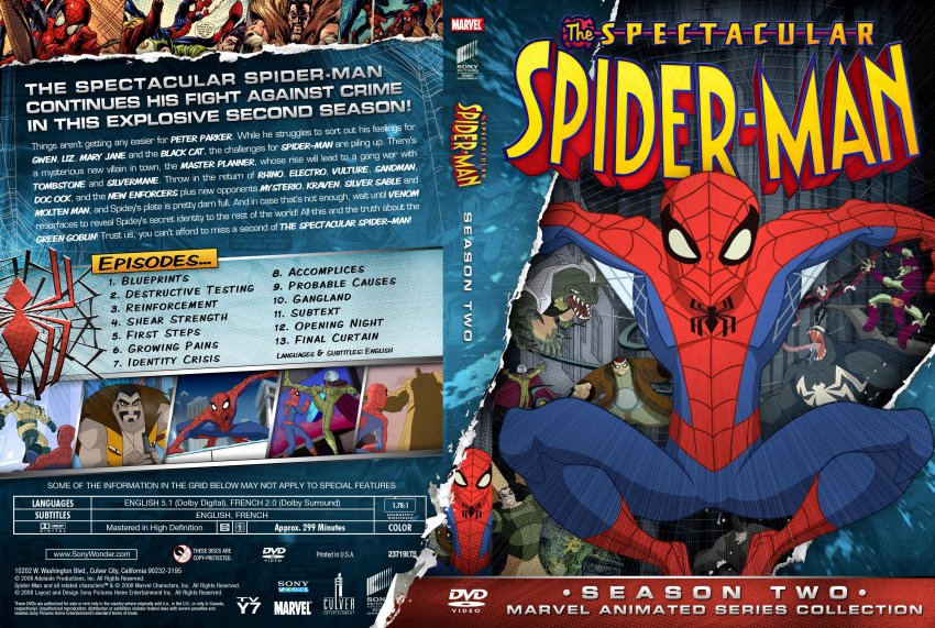 Marvel animated the spectacular spider man season 2