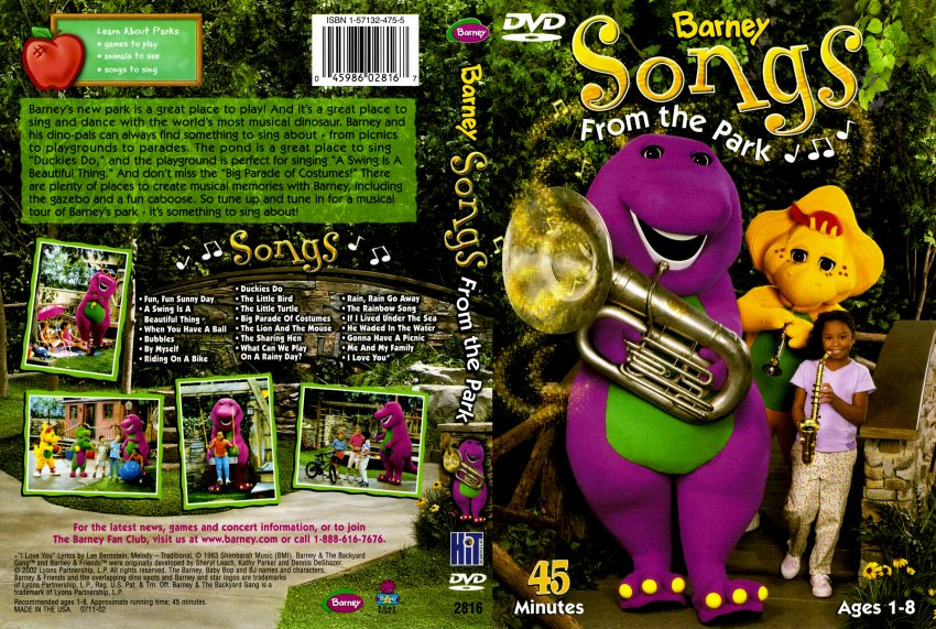 Barney Songs From The Park DVD