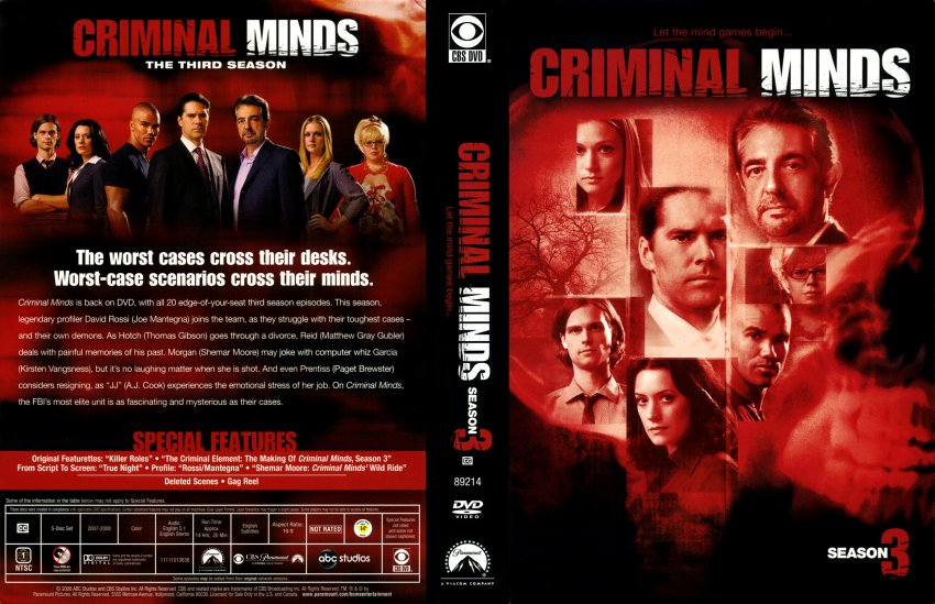criminal profiling the popular tv shows 'criminal minds': television's violent crime and its for tv shows to be conduits to taste of the psychology and profiling that criminal minds is.
