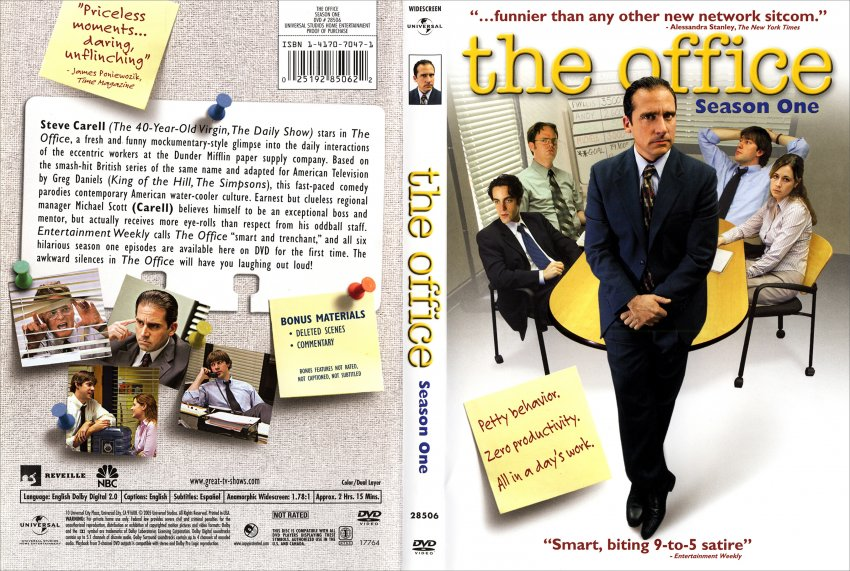 The Office Season 1 Tv Dvd Scanned Covers