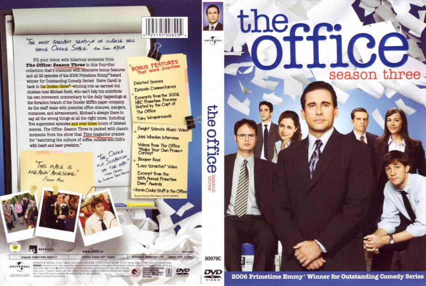 The Office Season 3 Tv Dvd Scanned