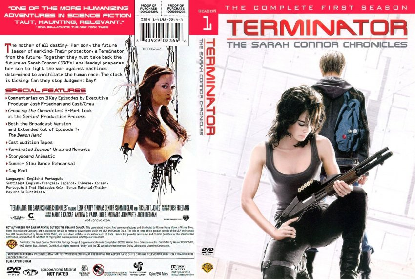 terminator the sarah connor chronicles season 1 tv dvd