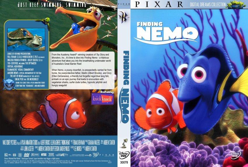 Finding Nemo - Movie DVD Custom Covers - 2168findingnemo ...