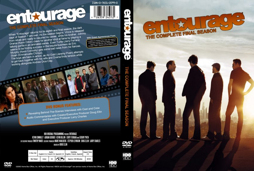 Entourage Season 8 Tv Dvd Custom Covers Entourage