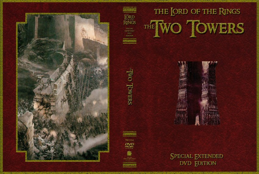 The Lord Of The Rings - The Two Towers - Movie DVD Custom ...