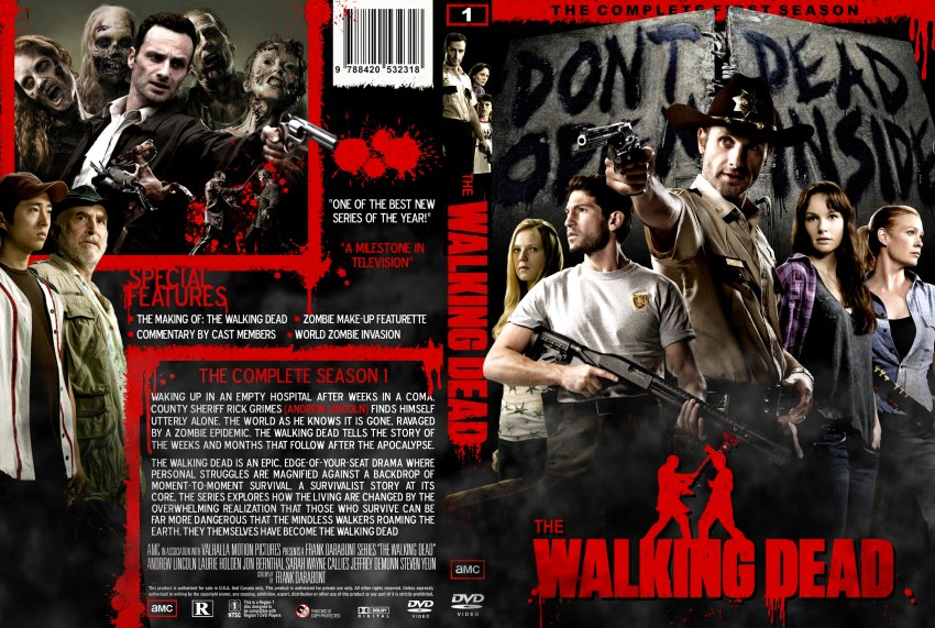 The Walking Dead Season 1 Custom Dvd Cover 2