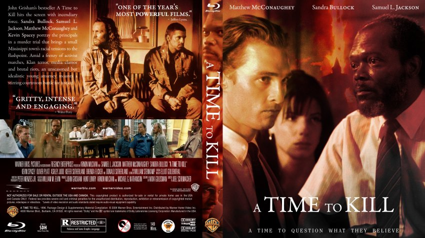 a time to kill 1996 argumentative A time to kill is not only very well done, but it shows the way racism is dealt with in an intertesting way every character is not only well developed, but the actors playing them make it totally believable.