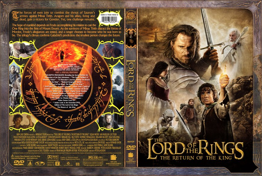 The Lord Of The Rings - The Return Of The King - Movie DVD ...