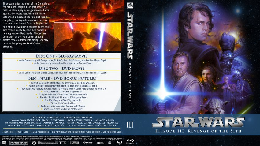 Star Wars Episode Iii Revenge Of The Sith Movie Blu Ray Custom Covers Star Wars Episode Iii Revenge Of The Sith Custom Bluray Dvd Covers