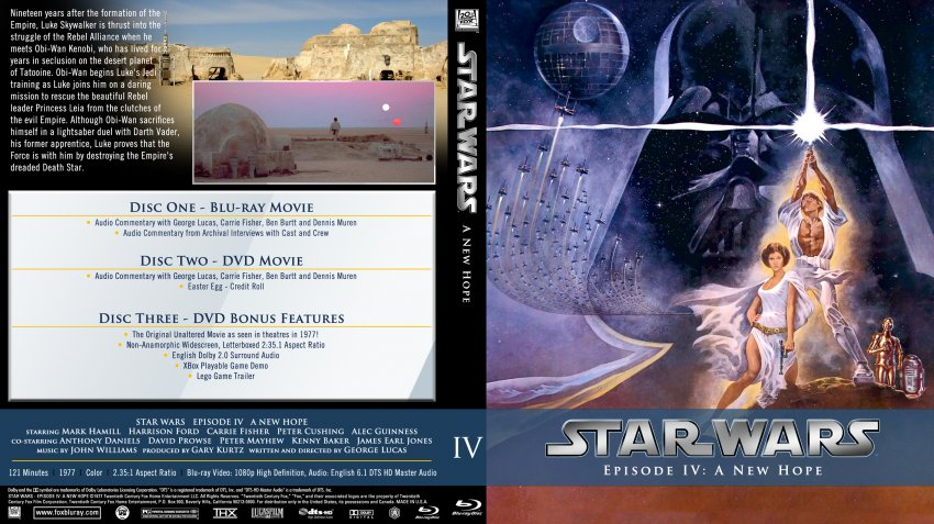 Star Wars Episode Iv A New Hope Movie Blu Ray Custom Covers Star Wars Episode Iv A New Hope Custom Bluray Dvd Covers