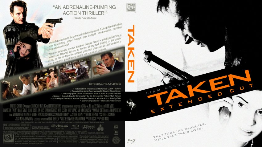 Taken blu ray cover 3