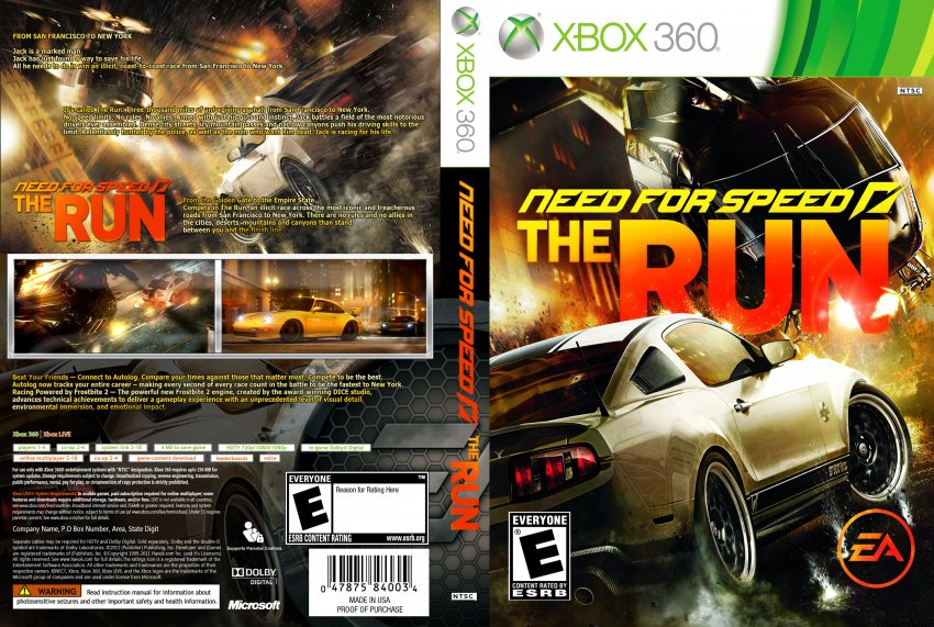 Need For Speed The Run pc Need For Speed on The Run