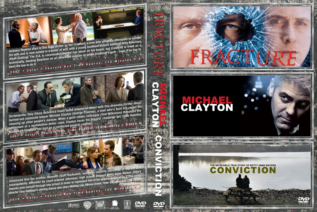Fracture / Michael Clayton / Conviction Triple Feature - Movie DVD ...: www.dvd-covers.org/art/DVD_Covers/Movie_DVD_Custom_Covers/Fracture...