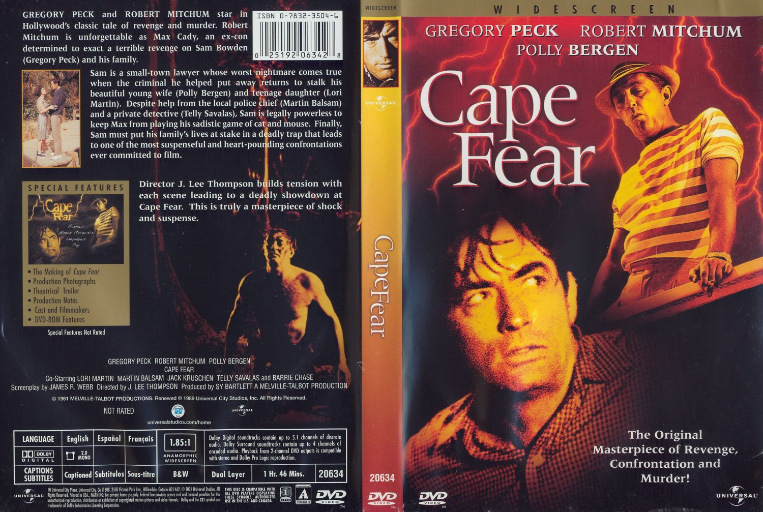 cape fear 1962 movie dvd scanned covers cape fear