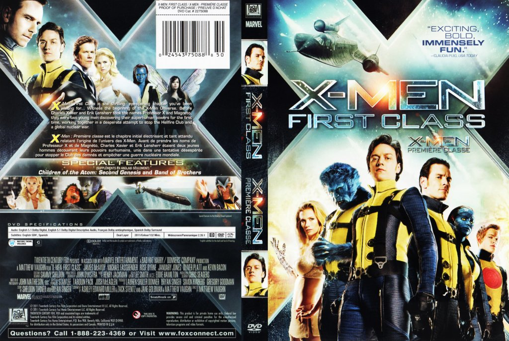 X Men Dvd Cover: Movie DVD Scanned Covers