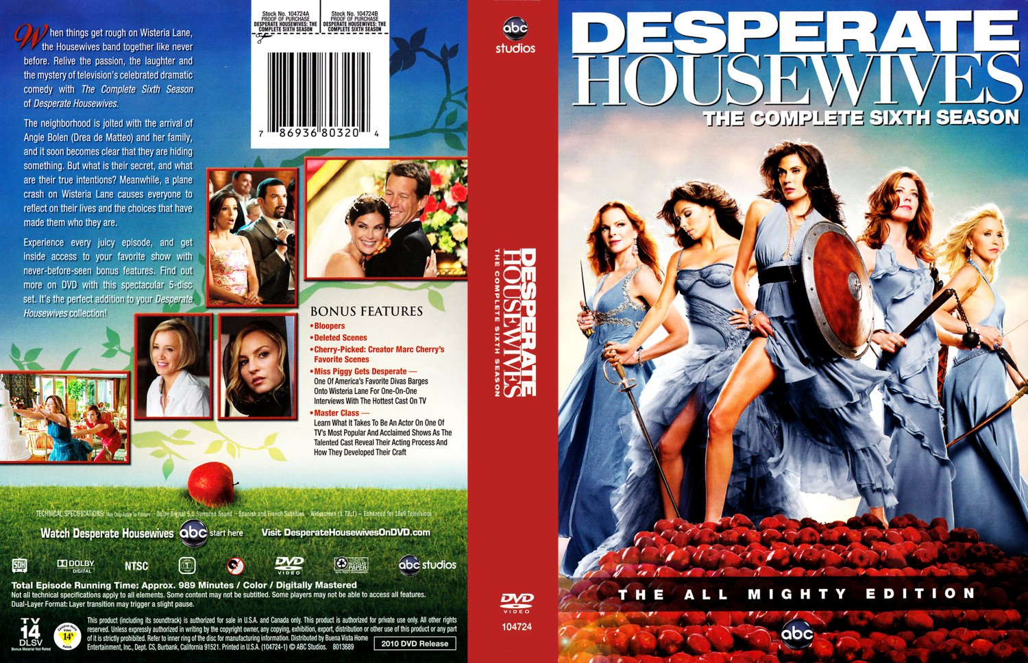 desperate housewives season 6 r1 tv dvd scanned covers. Black Bedroom Furniture Sets. Home Design Ideas