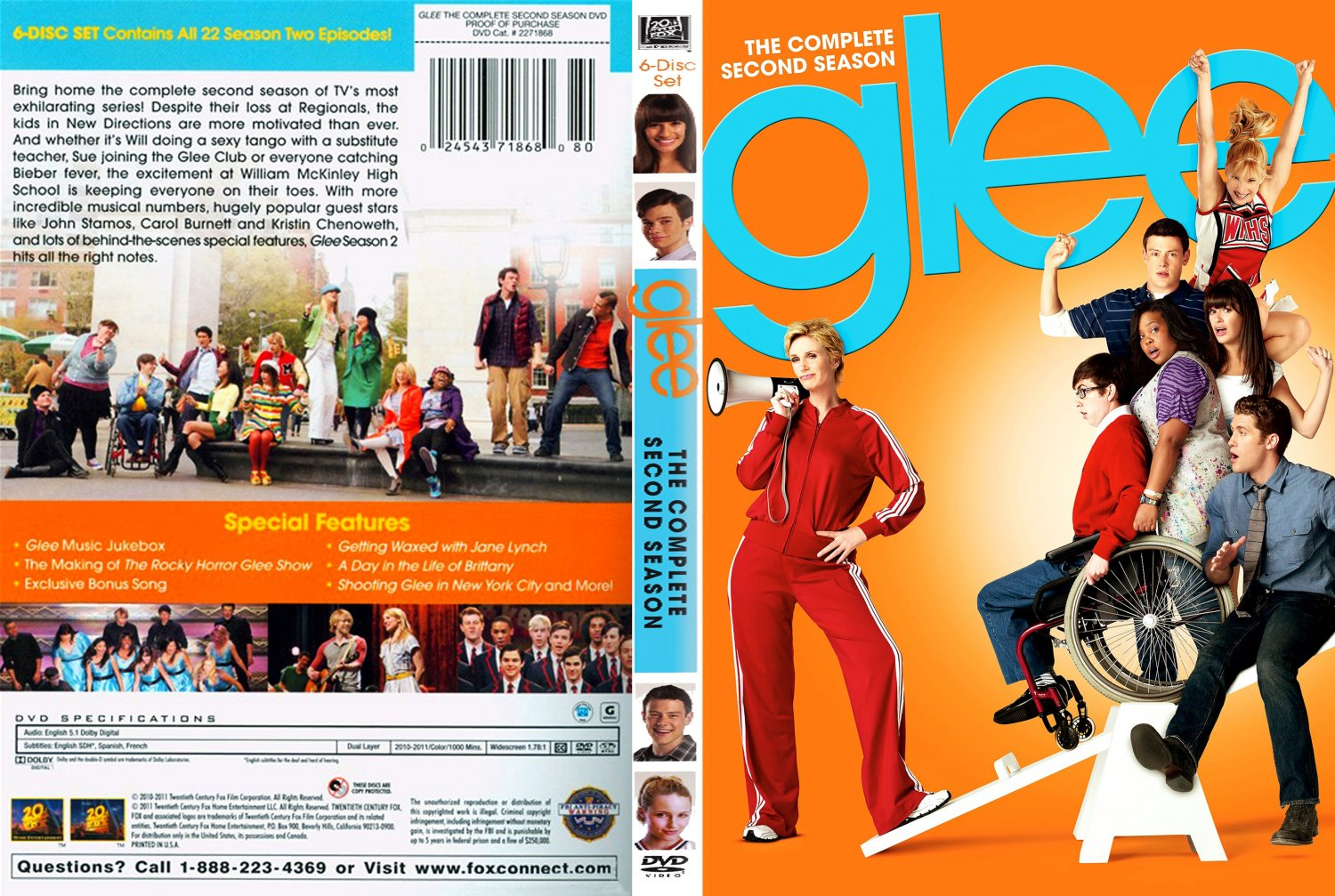 Season 2 Glee Glee Season 2 Dvd Cover