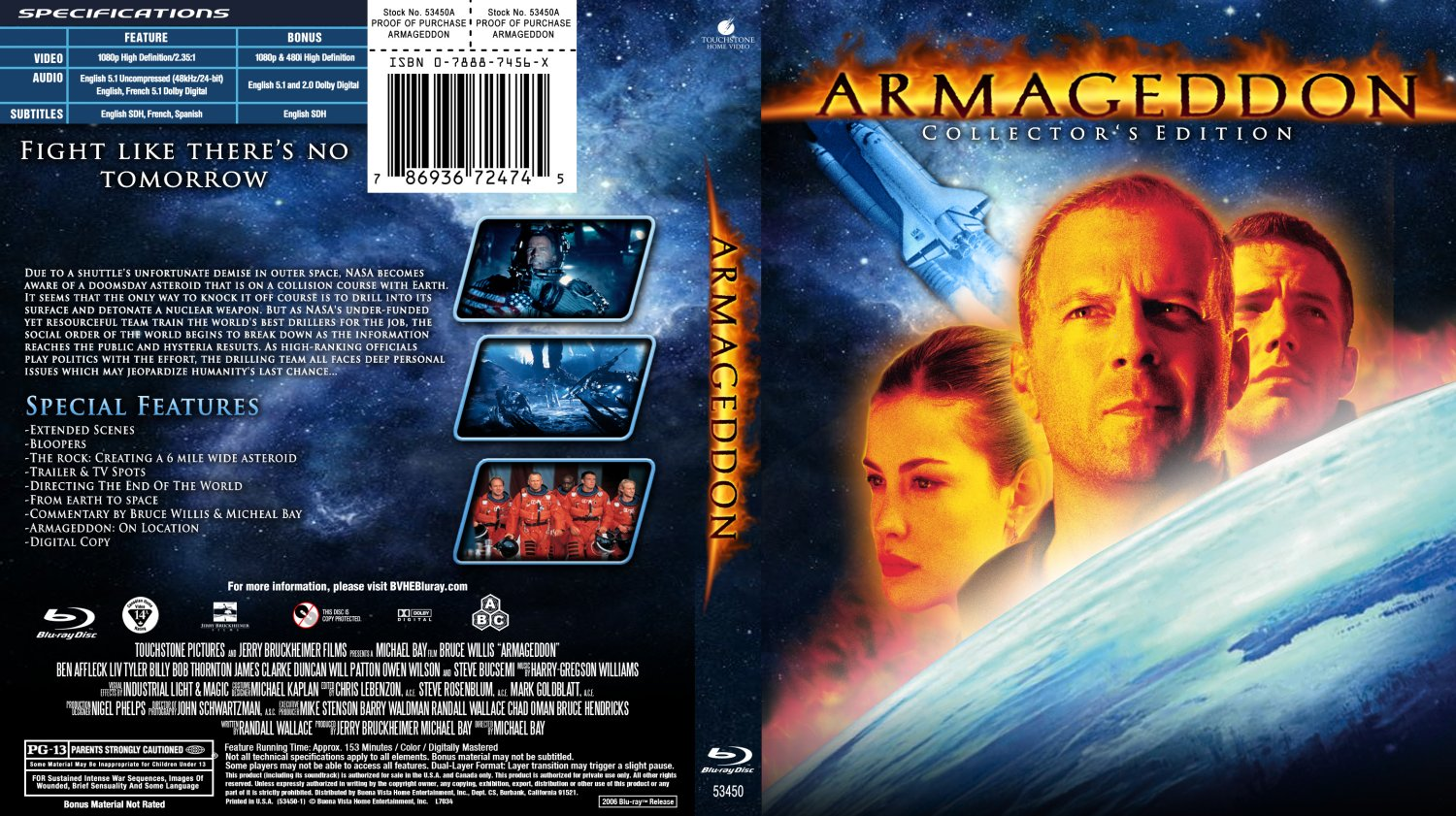armageddon collector s edition blu ray movie blu ray. Black Bedroom Furniture Sets. Home Design Ideas