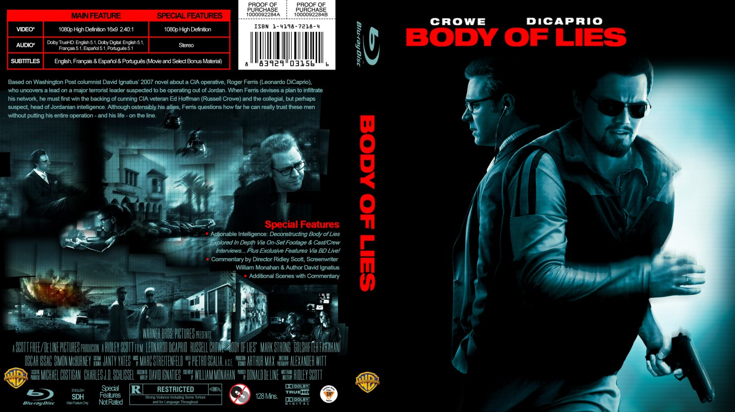 body of lies blu ray cover v2 movie blu ray custom. Black Bedroom Furniture Sets. Home Design Ideas