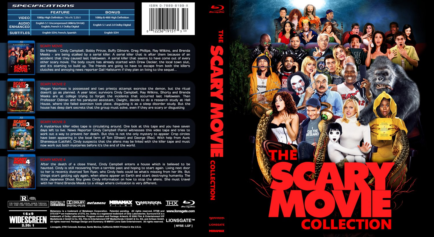 The scary movie collection horror comedy parody