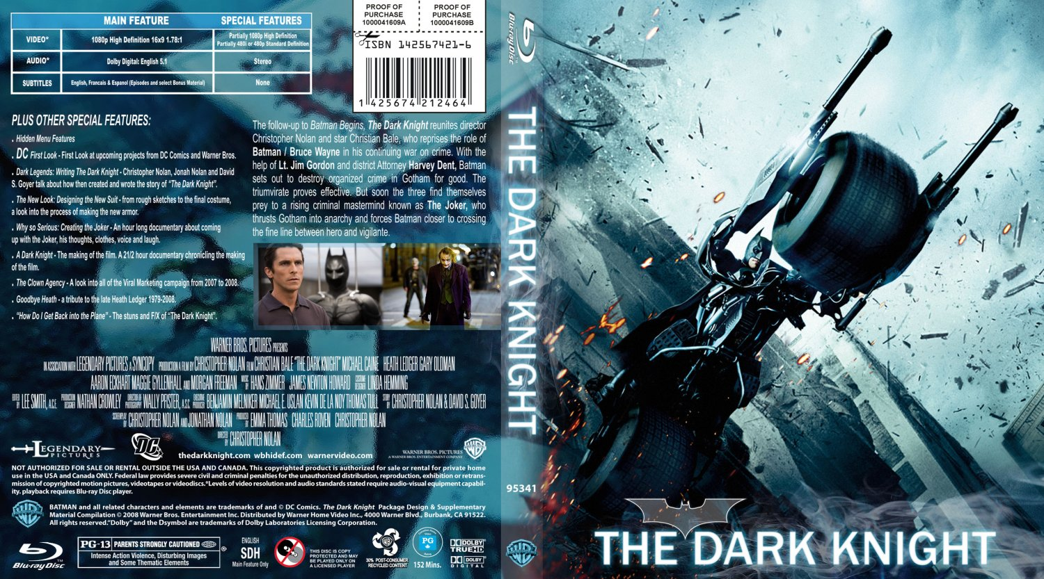 the dark knight blu ray cover 1 movie blu ray custom. Black Bedroom Furniture Sets. Home Design Ideas